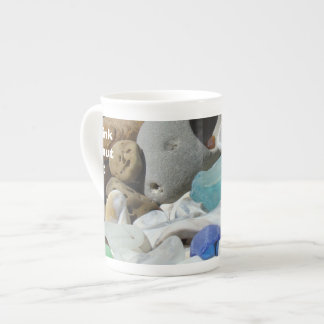 Think About It bone china Mugs Seaglass Fossils