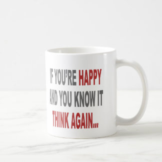 Think Again Basic White Mug