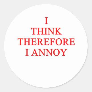 think and annoy sticker