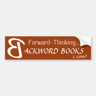Think Backword bumper sticker
