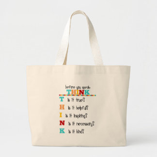 Think Before you Speak Tote Bags