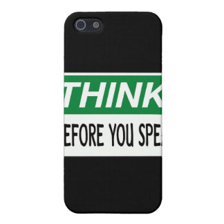 Think before you speak iPhone 5 covers