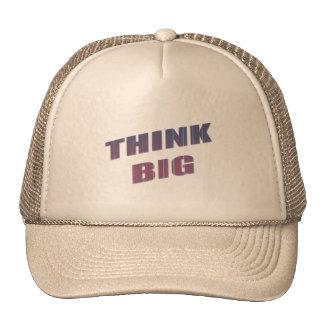 Think Big Motivational Phrases Cap