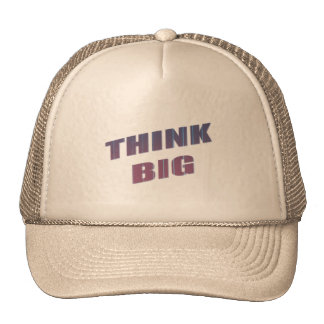 Think Big Motivational Phrases Hat