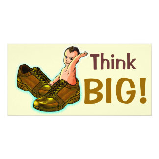 Think BIG! Personalized Photo Card