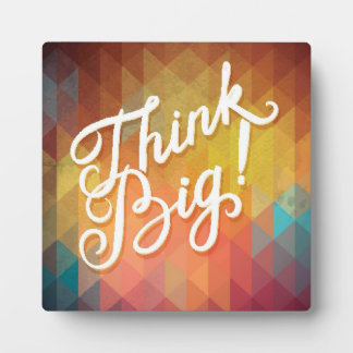 Think Big Photo Plaque