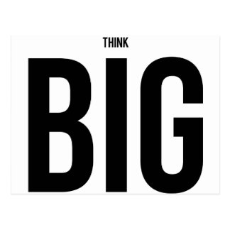 Think BIG Postcard