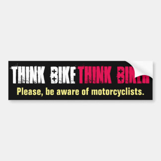 Think Bike Polite Bumper Sticker