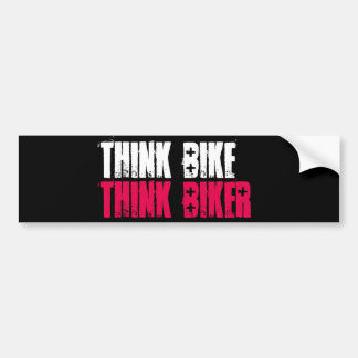Think Bike Stacked Bumper Sticker