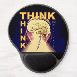 THINK Brain Lightbulb Statement Design Mousepad Gel Mouse Pad