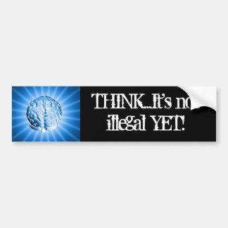 THINK bumper sticker