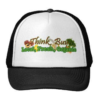 Think, Buy Local, Fresh, Organic Cap