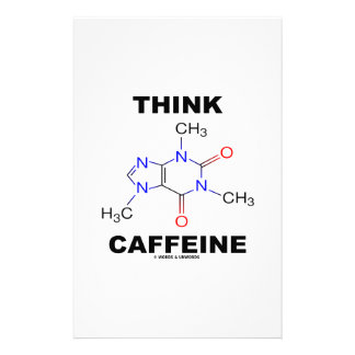 Think Caffeine (Caffeine Chemical Molecule) Customised Stationery