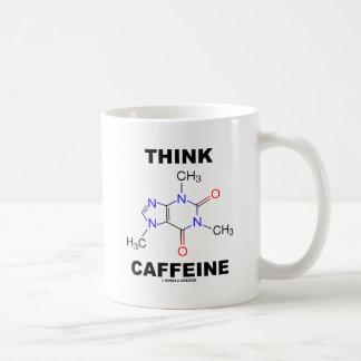 Think Caffeine Caffeine Chemical Molecule Coffee Mug