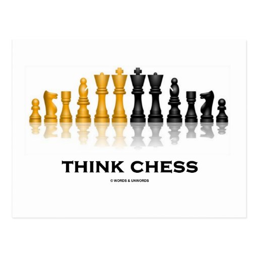 Think Chess (Chess Set) Postcards
