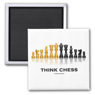 Think Chess Chess Set Refrigerator Magnets