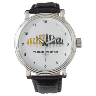 Think Chess Reflective Chess Set Chess Advice Wrist Watch
