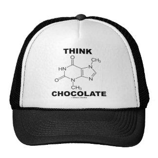 Think Chocolate (Theobromine Molecule Chemistry) Trucker Hats