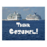 Think Cozumel! Poster