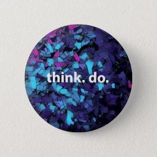 Think. Do. Blue mosaic button