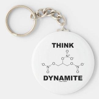 Think Dynamite Chemical Nitroglycerin Molecule Keychain