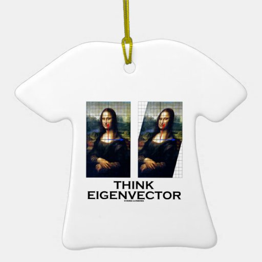 Think Eigenvector (Mona Lisa Restored) Ornament