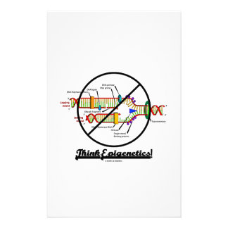 Think Epigenetics! (Cross Out DNA Replication) Custom Stationery