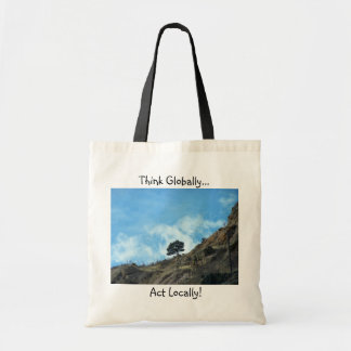 'Think Globally, Act Locally!' Organic Tote Bags