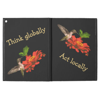 Think Globally Act Locally Red  iPad Pro Case