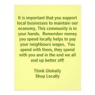 think Globally Shop Locally 21.5 Cm X 28 Cm Flyer