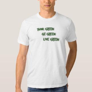 THINK-GO-LIVE GREEN-T-SHIRT TSHIRTS