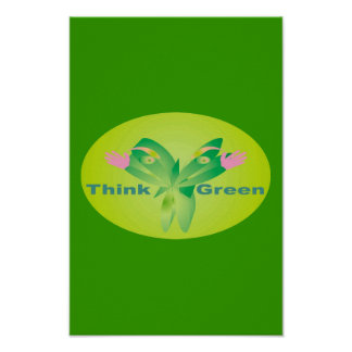 Think Green 16-5 x 11 Poster