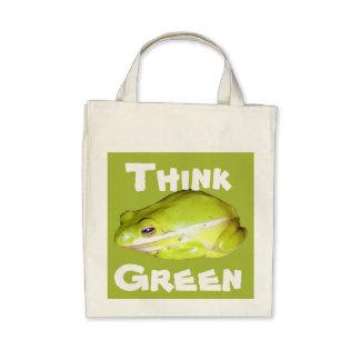 Think Green - American Tree Frog Organic Tote Bag