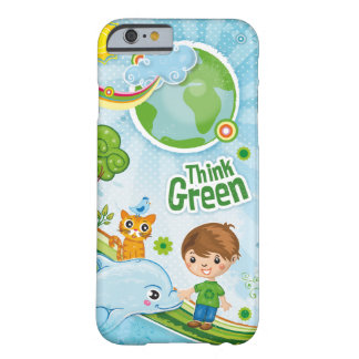 Think Green Awareness Happy Quote Barely There iPhone 6 Case