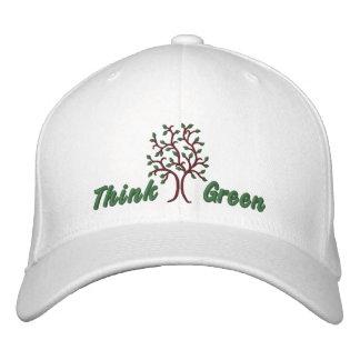 Think Green ~ Ballcap Embroidered Cap