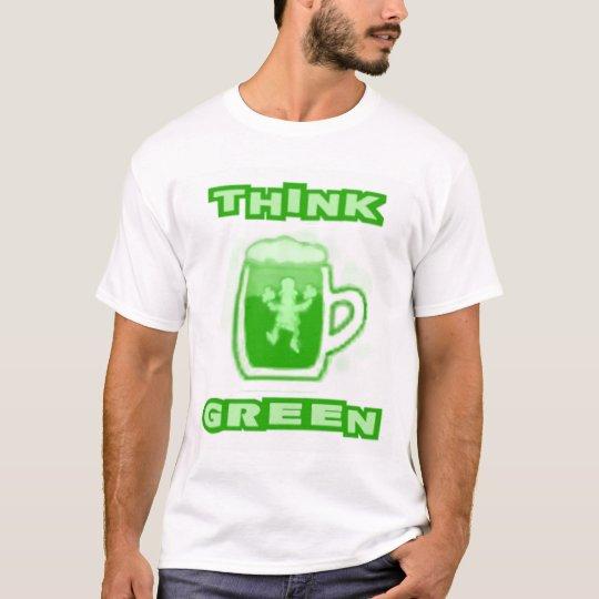 Think Green Beer Mug T-Shirt