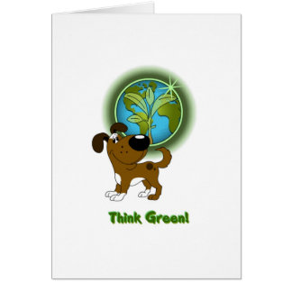 Think Green Boots Card