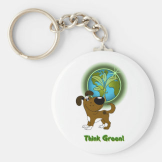 Think Green Boots Keychains