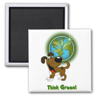 Think Green - Boots Refrigerator Magnets