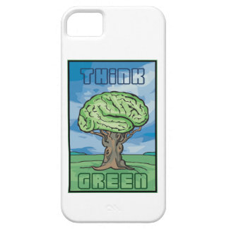 Think Green Brain iPhone 5 Cases