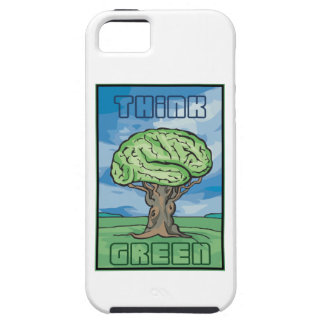 Think Green Brain iPhone 5 Cover