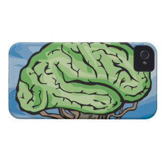 Think Green Brain iPhone 4 Cases