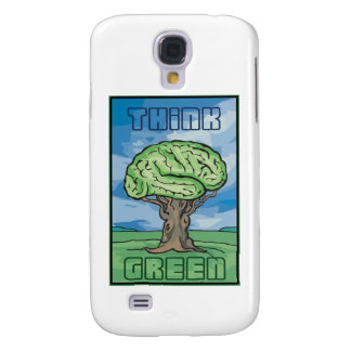 Think Green Brain Samsung Galaxy S4 Cover