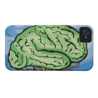 Think Green Brain Case-Mate iPhone 4 Case