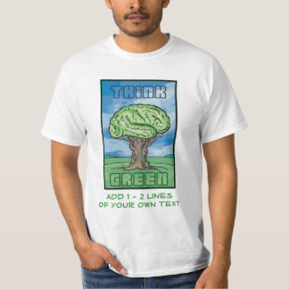 Think Green Brain T-Shirt