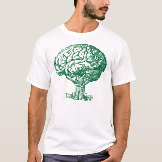 Think Green Brain Tree T-Shirt