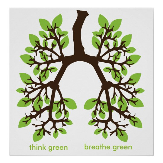 think green, breathe green poster