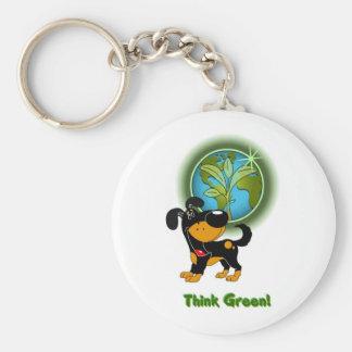 Think Green - Bubba Keychain