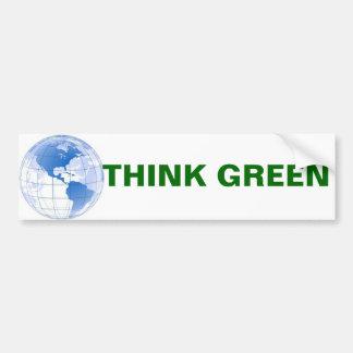 Think Green Bumper Sticker