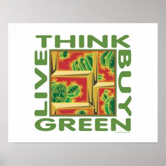 Think Green, Cactus Print